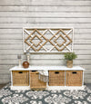 Storage bench with baskets (white-n)