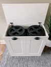 Dog food storage (white-flat) double size