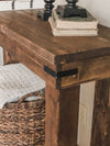 Entry table, console table, sofa table chunky legs