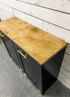 tilt out trash double bin black (D-B-G-OAK TOP)