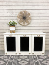 triple tilt out trash bin beautiful white (3REG-W)