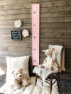 Growth Chart for Kids PINK Customize font color