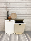 tilt out trash bin double bin white (D-W-esp. top)