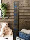 Growth Chart for Kids -dark carbon gray background customize font
