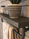Pipe Shelf single shelf-aged barrel-towel bar