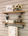 Pipe Shelf single shelf-driftwood-towel bar pipe shelf set