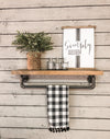 Pipe Shelf single shelf-driftwood-towel bar