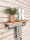 Pipe Shelf single shelf-GO-towel bar