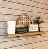Pipe Shelf single shelf- Driftwood color