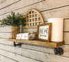 Pipe Shelf single shelf-driftwood- L shaped