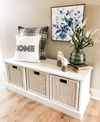 Storage bench with baskets (white-w)