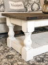 Rustic Baluster farmhouse Coffee Table distressed rectangle espresso