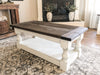 Rustic Baluster farmhouse Coffee Table distressed