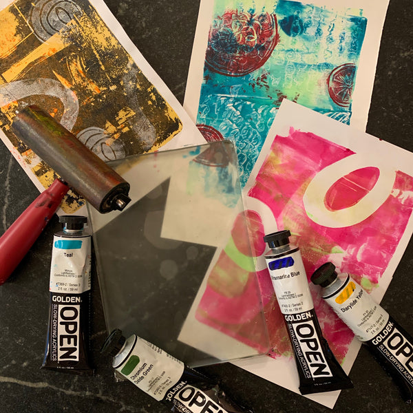 """Have Fun Making Art Prints without a Printing Press: A Two-Hour Workshop"""