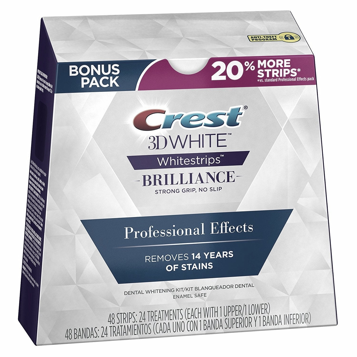 Crest whitening whitestrips kit
