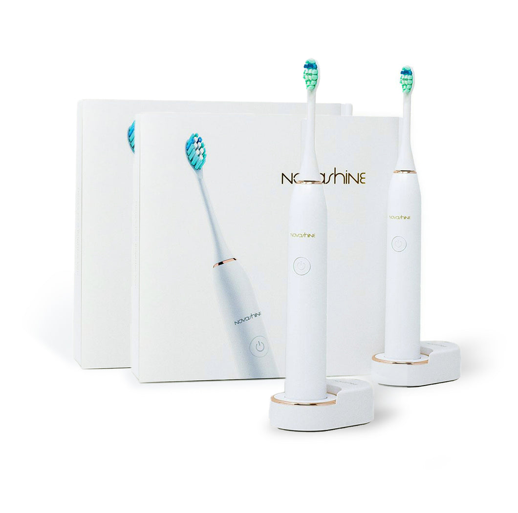 Novashine Ultrasonic Whitening Toothbrush Bundle (Two Toothbrushes)