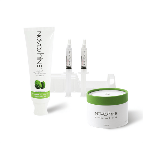 Nightly Whitening Maintenance Bundle Novashine: Mask, Tooth Paste, 2 Gels