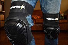 Load image into Gallery viewer, Knee Pads for Work by Thunderbolt for Construction, Flooring, Gardening, Cleaning with Double Gel Cushion and Anti-Slip Straps