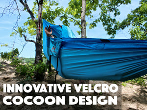 Cocoon Hammock Red and Blue (double sized)