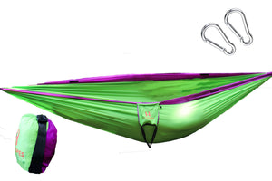 Cocoon Hammock Lime and Purple (double sized)