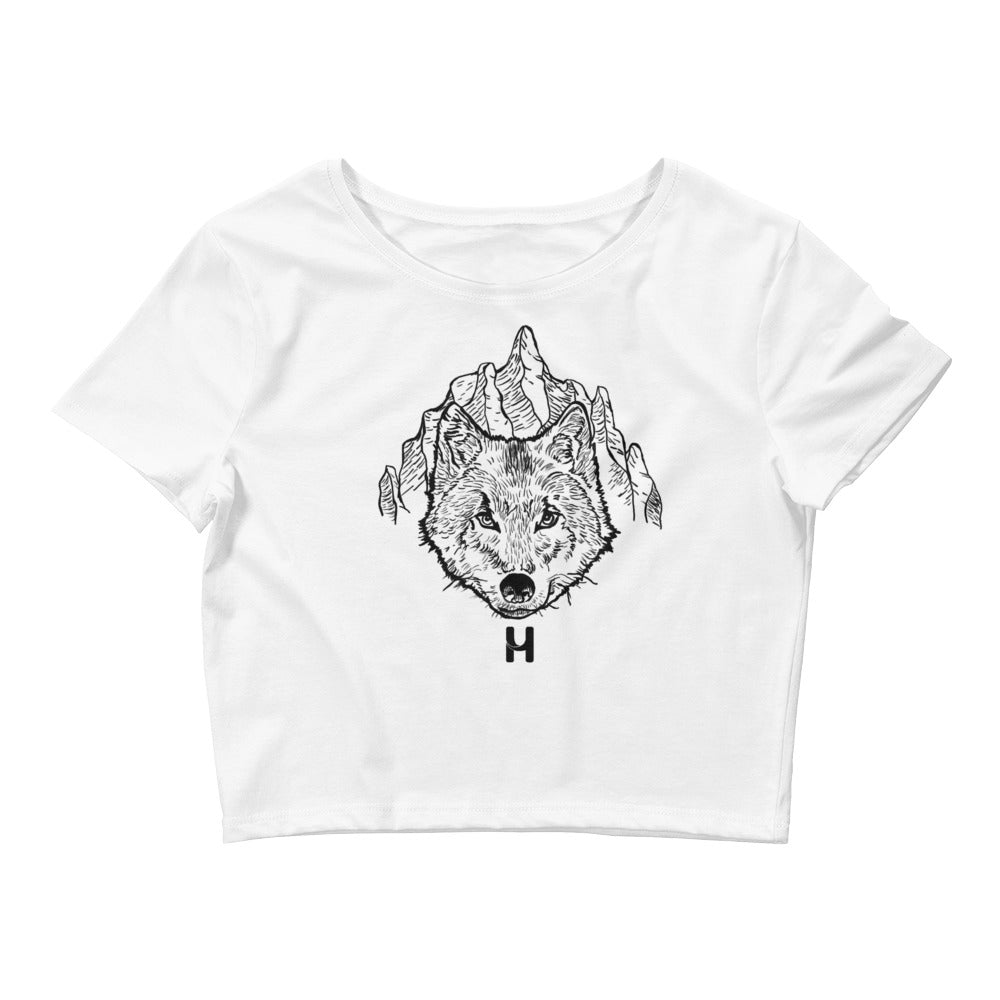 Pooch hand drawn Women's Crop Tee