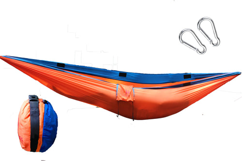 Camping Hammock Orange and Blue (double sized)