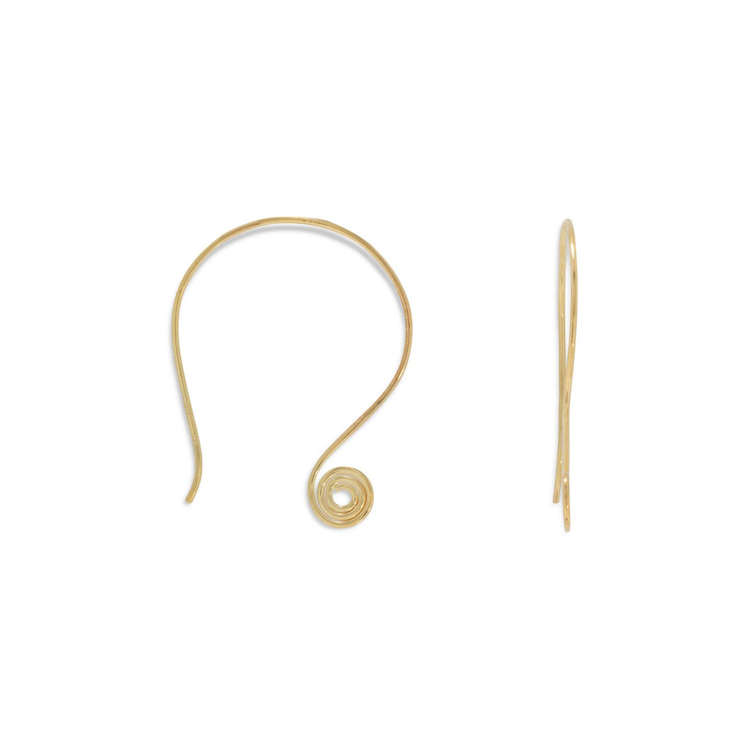 14 Karat Gold Plated Coil Design Earrings - Lierre Bridal Accessories