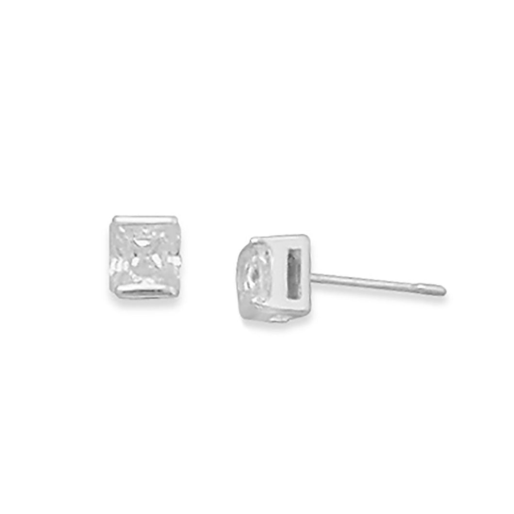 4mm Square CZ Post Earrings - Lierre Bridal Accessories