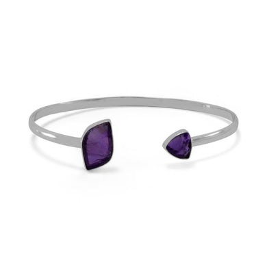 Open Cuff Amethyst Bracelet - Lierre Bridal Accessories