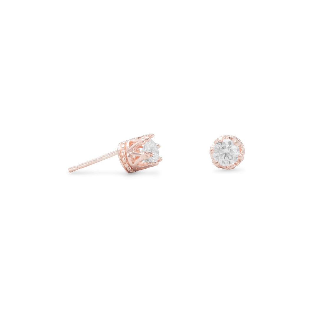 Crown Set CZ Earrings - Lierre Bridal Accessories