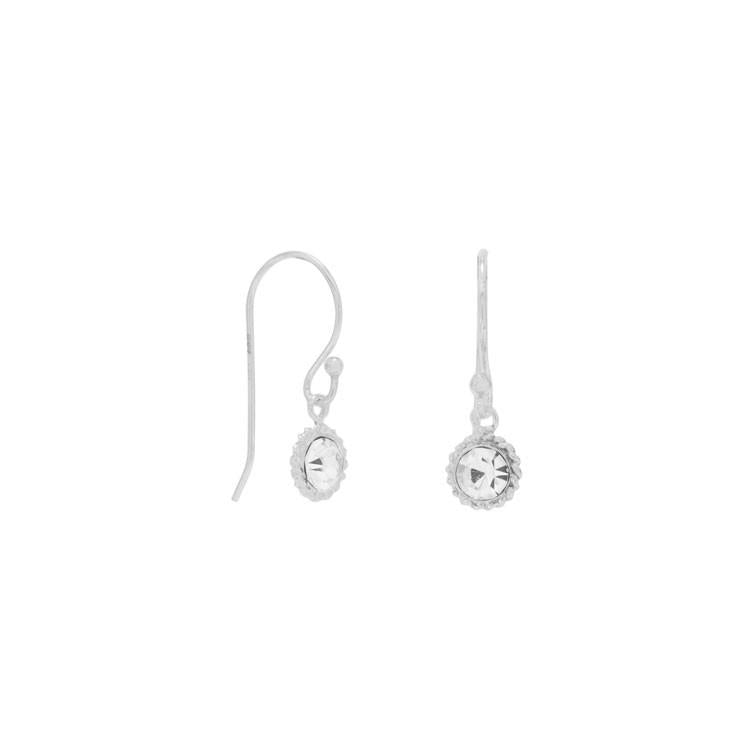 Crystal with Rope Edge Earrings - Lierre Bridal Accessories