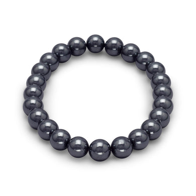Hematite Bead Stretch Bracelet - Lierre Bridal Accessories