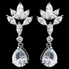 Marquise and Pear CZ Drop Earrings - Lierre Bridal Accessories