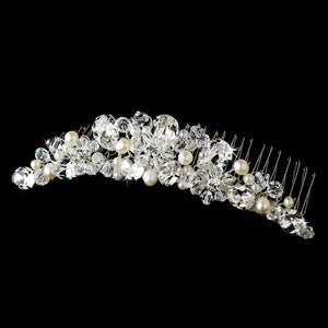 Freshwater Pearl And Swarovski Crystal Bridal Comb - Lierre Bridal Accessories
