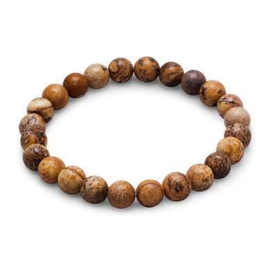 Picture Jasper Stretch Bracelet - Lierre Bridal Accessories