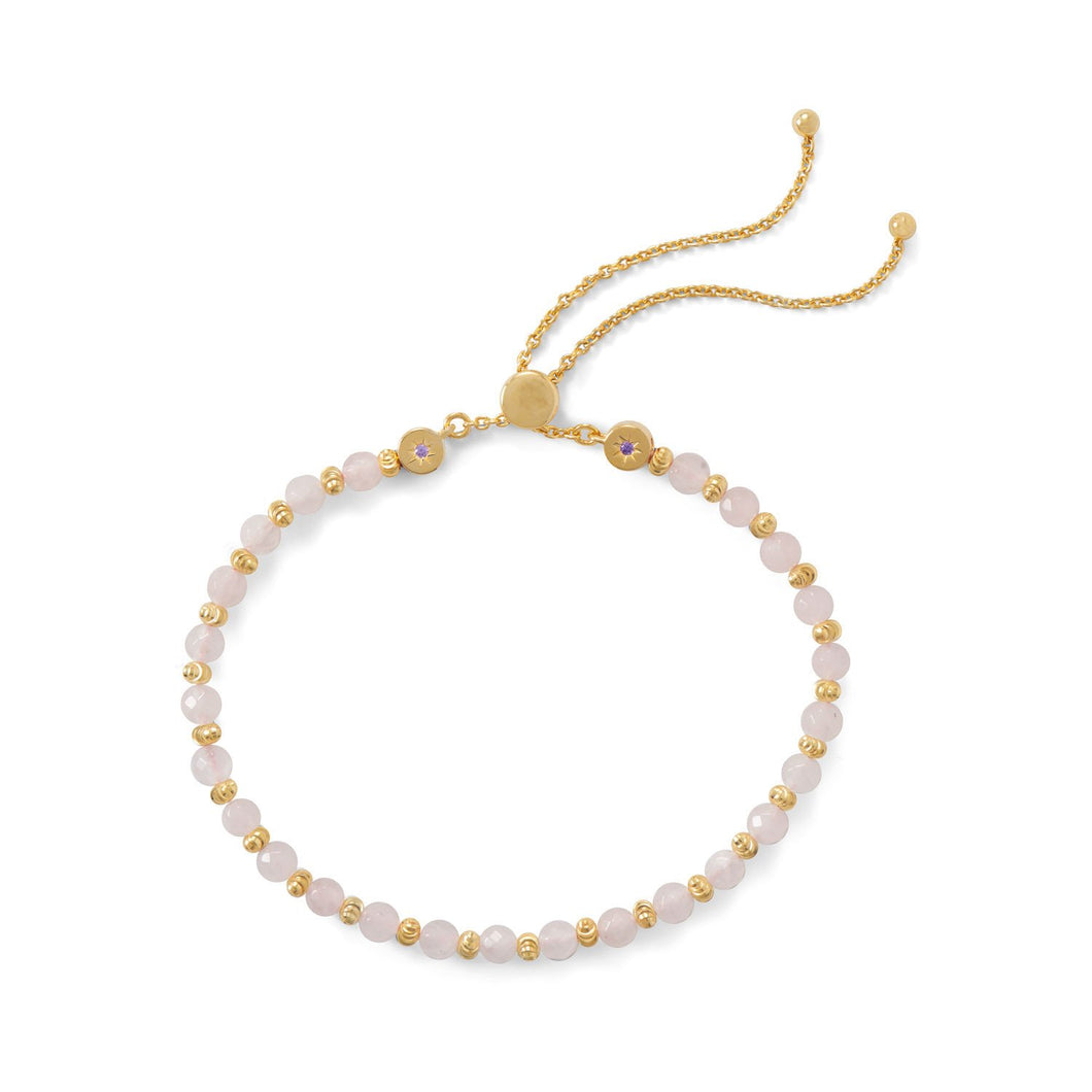 Rose Quartz Bracelet - Lierre Bridal Accessories