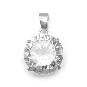 Round CZ Pendant - Lierre Bridal Accessories