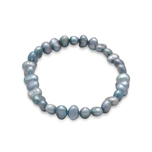 Sage Freshwater Pearl Stretch Bracelet - Lierre Bridal Accessories