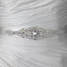 Silver Rhinestone Crystal Bridal Belt - Lierre Bridal Accessories