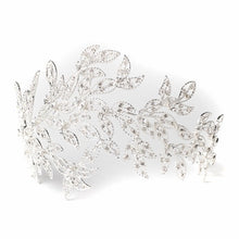 Silver Rhinestone Leaf Headband - Lierre Bridal Accessories