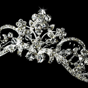 Swarovski Crystal Floral Bridal Comb - Lierre Bridal Accessories