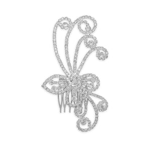 Crystal Swirl Hair Comb - Lierre Bridal Accessories