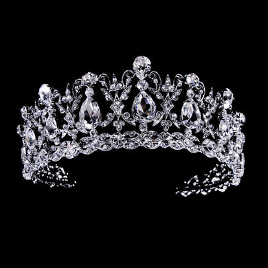 Rhinestone and CZ Tiara - Lierre Bridal Accessories