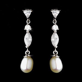 Freshwater Pearl Earrings - Lierre Bridal Accessories