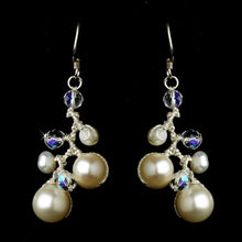 Freshwater Pearl and AB Crystal Earrings - Lierre Bridal Accessories