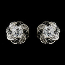 Clear and Black CZ Earrings - Lierre Bridal Accessories