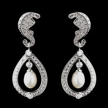 White Freshwater Pearl Earrings - Lierre Bridal Accessories