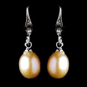 Pink Freshwater Pearl Earrings - Lierre Bridal Accessories