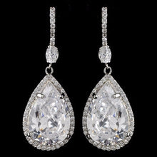 Pear Teardrop Earrings - Lierre Bridal Accessories