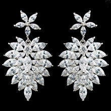 Marquise CZ Drop Earrings - Lierre Bridal Accessories
